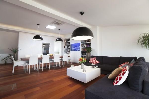 Půdní byty - obývák