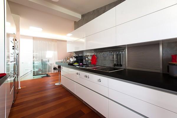 Vybavení kuchyně půdního bytu