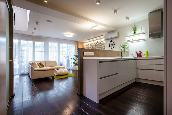 Implementation of kitchen attic apartment