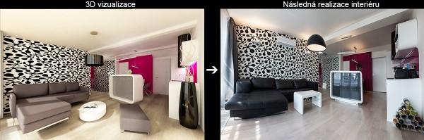 Vizualizace a realizace zajímavého designu půdního bytu
