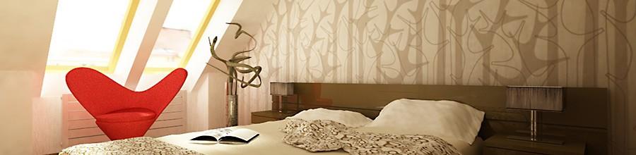 Vizualizace Půdní byty - ložnice